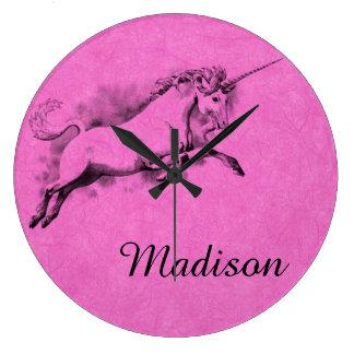 unicorn sketch fantasy art story trendy fashion large clock