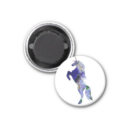 Unicorn Small, 3.2 Cm Round Magnet