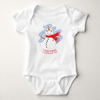 Unicorn Snowman Baby Bodysuit