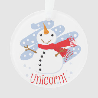 Unicorn Snowman Ornament