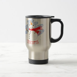 Unicorn Snowman Travel Mug
