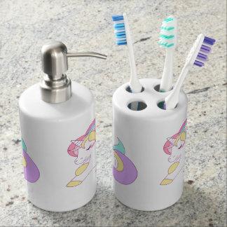 Unicorn Soap Dispenser And Toothbrush Holder