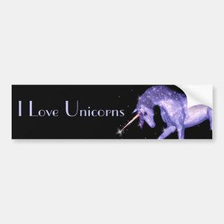 Unicorn Sparkles Bumper Sticker