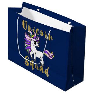 Unicorn Squad, cute kawaii Unicorn Large Gift Bag