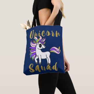 Unicorn Squad, white kawaii Pony Tote Bag