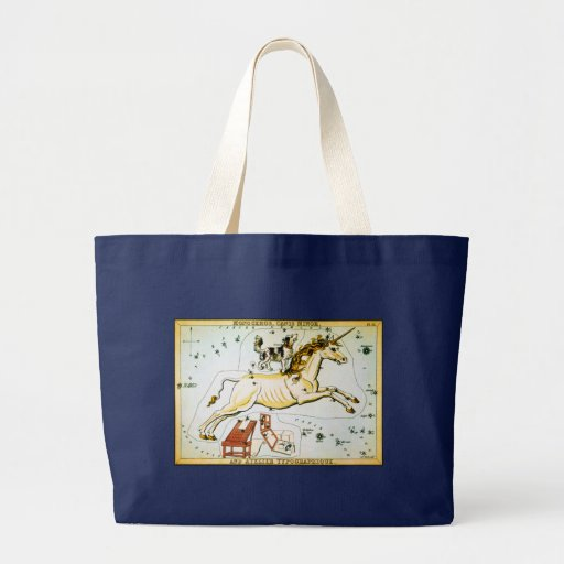 Unicorn Star Chart - Monoceros Constellation Tote Bags