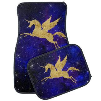 Unicorn Stardust Galaxy Constellation Blue Car Mat