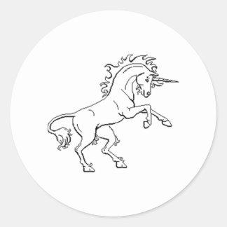 Unicorn Round Stickers