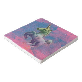 Unicorn Stone Trivet (Cupcake Pink)