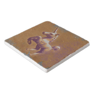 Unicorn Stone Trivet (Metal Lavender)