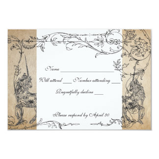 Unicorn Storybook rsvp with envelopes 9 Cm X 13 Cm Invitation Card