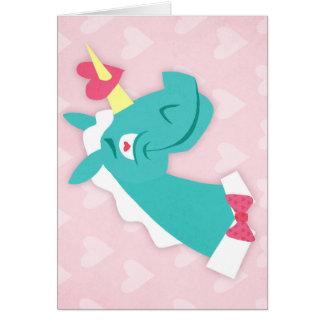 Unicorn Struck by Love Card