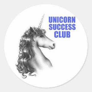 Unicorn success club classic round sticker