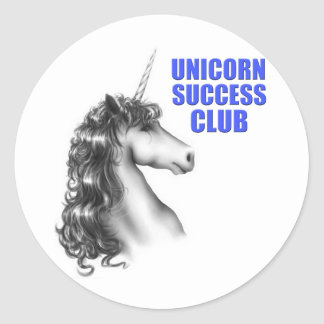 Unicorn success club round sticker