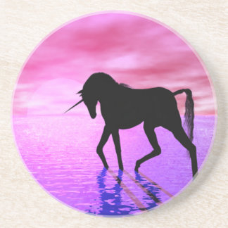 Unicorn Sunset Beverage Coasters