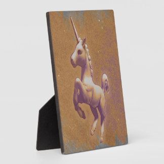 Unicorn Tabletop Plaque 5.25in (Metal Lavender)