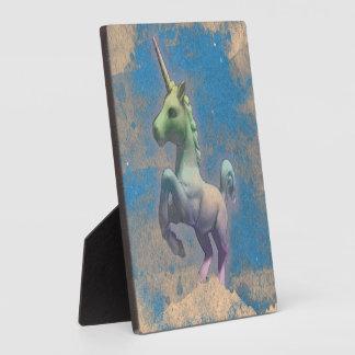 Unicorn Tabletop Plaque 5.25in (Sandy Blue)