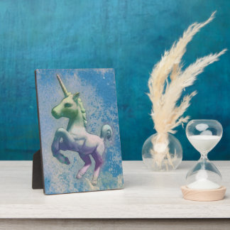 Unicorn Tabletop Plaque 5x7 (Blue Arctic)