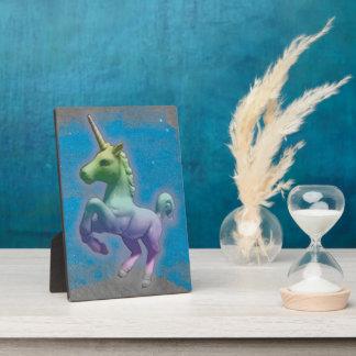 Unicorn Tabletop Plaque 5x7 (Blue Nebula)