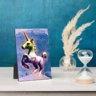 Unicorn Tabletop Plaque 5x7 (Burnt Blue)