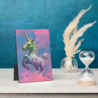 Unicorn Tabletop Plaque 5x7 (Cupcake Pink)