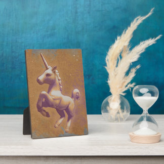 Unicorn Tabletop Plaque 5x7 (Metal Lavender)
