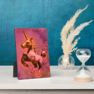 Unicorn Tabletop Plaque 5x7 (Red Intensity)