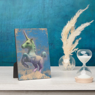 Unicorn Tabletop Plaque 5x7 (Sandy Blue)