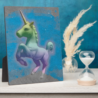 Unicorn Tabletop Plaque 8x10 (Blue Nebula)