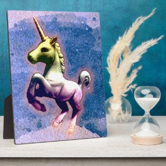 Unicorn Tabletop Plaque 8x10 (Burnt Blue)
