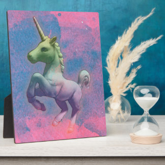 Unicorn Tabletop Plaque 8x10 (Cupcake Pink)