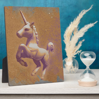 Unicorn Tabletop Plaque 8x10 (Metal Lavender)