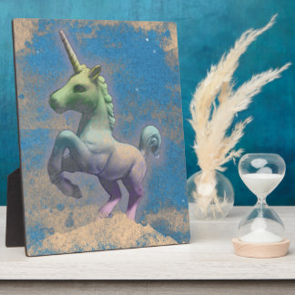 Unicorn Tabletop Plaque 8x10 (Sandy Blue)