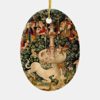 Unicorn Tapestries Medieval Art Christmas Ornament