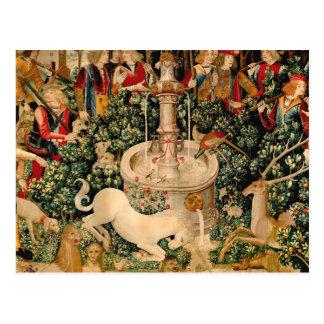 Unicorn Tapestries Medieval Hunting Postcard