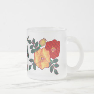 Unicorn Tapestry Frosted Glass Mug