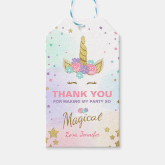 Unicorn thank you tags Unicorn Magical Birthday
