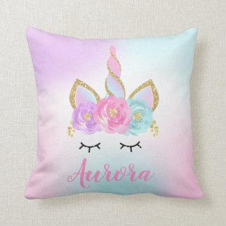 Unicorn Throw Pillow Magical Unicorn Room Decor