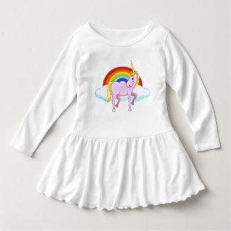 Unicorn Toddler Ruffle Dress