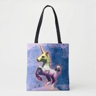 Unicorn Tote Bag (Burnt Blue)