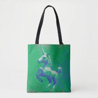 Unicorn Tote Bag (Glowing Emerald)