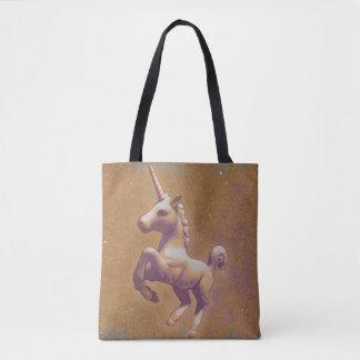 Unicorn Tote Bag (Metal Lavender)
