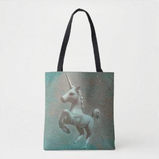 Unicorn Tote Bag (Teal Steel)