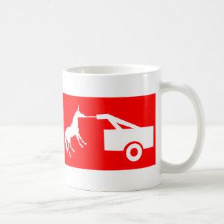 Unicorn Tow Away Zone Basic White Mug
