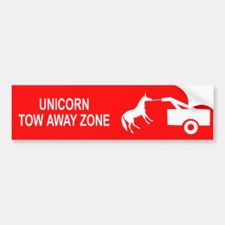 Unicorn Tow Away Zone Bumper Sticker