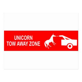Unicorn Tow Away Zone Postcard