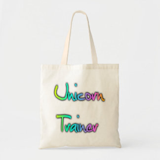 Unicorn Trainer Rainbow Tote Bag