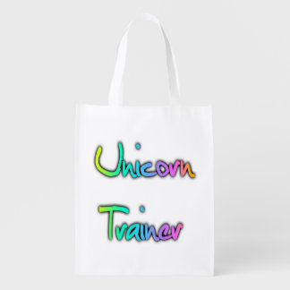 Unicorn Trainer Rainbow Reusable Grocery Bags