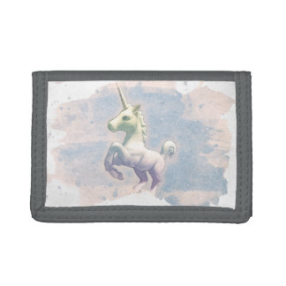 Unicorn Tri-Fold Nylon Wallet (Moon Dreams)