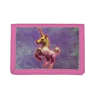 Unicorn Tri-Fold Nylon Wallet (Purple Mist)